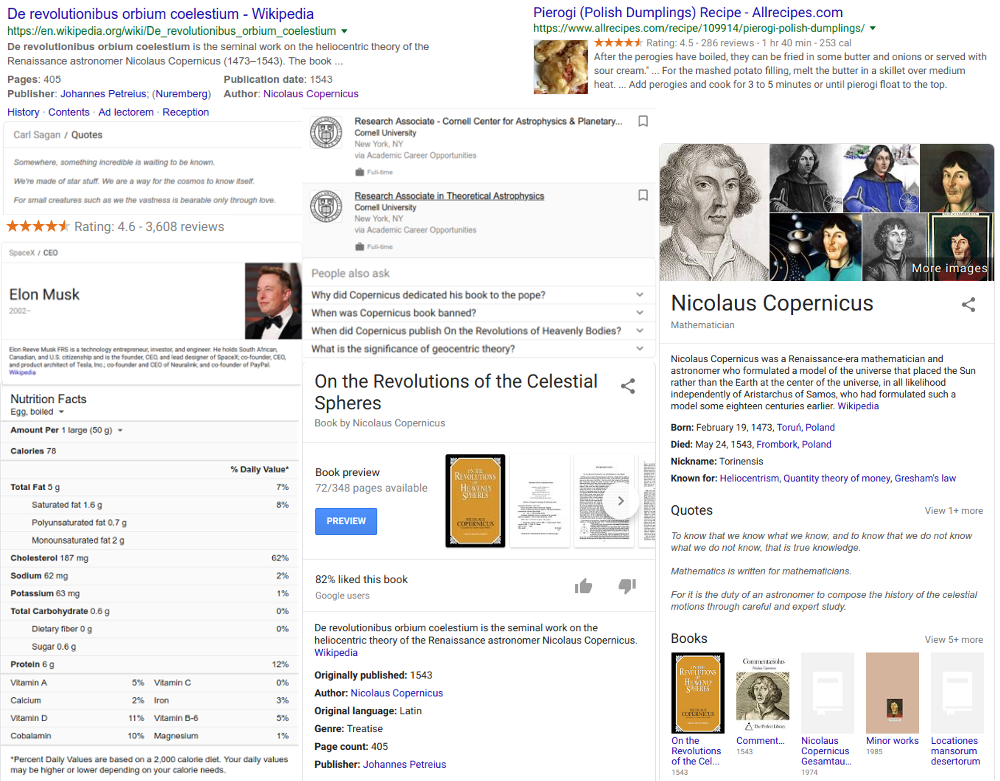 Google with structured data