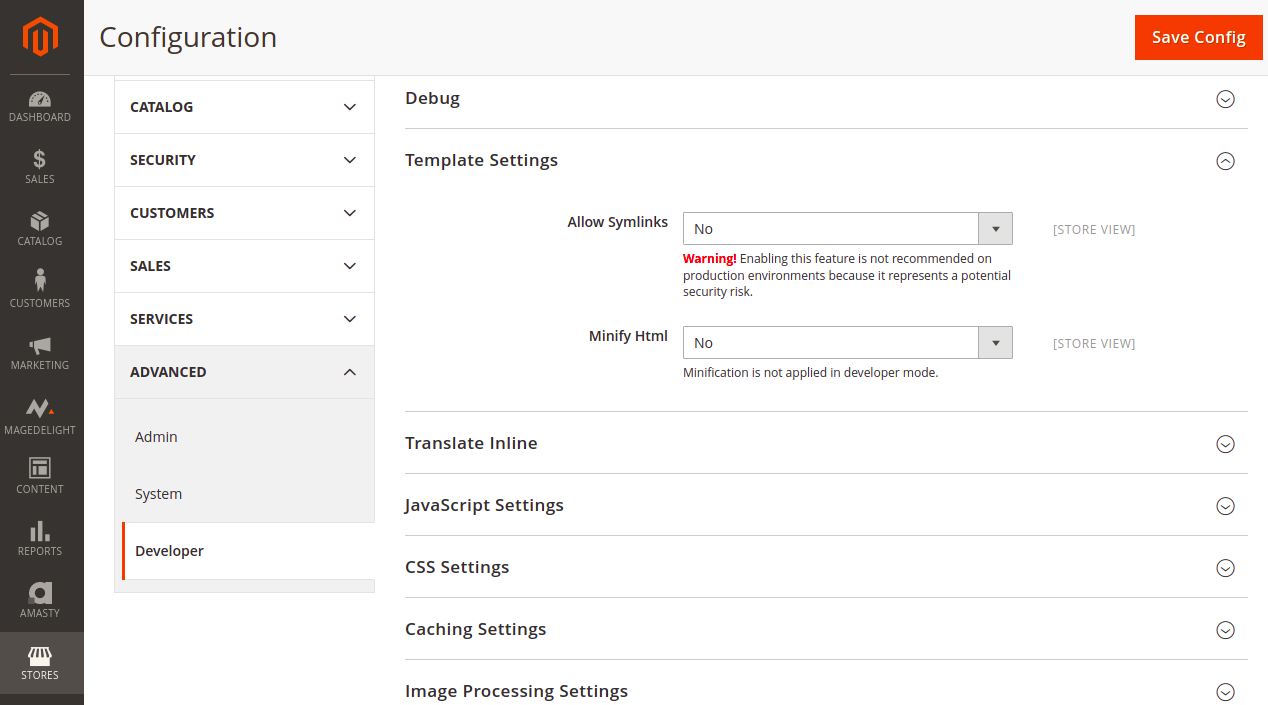 Minify HTML in Magento Panel